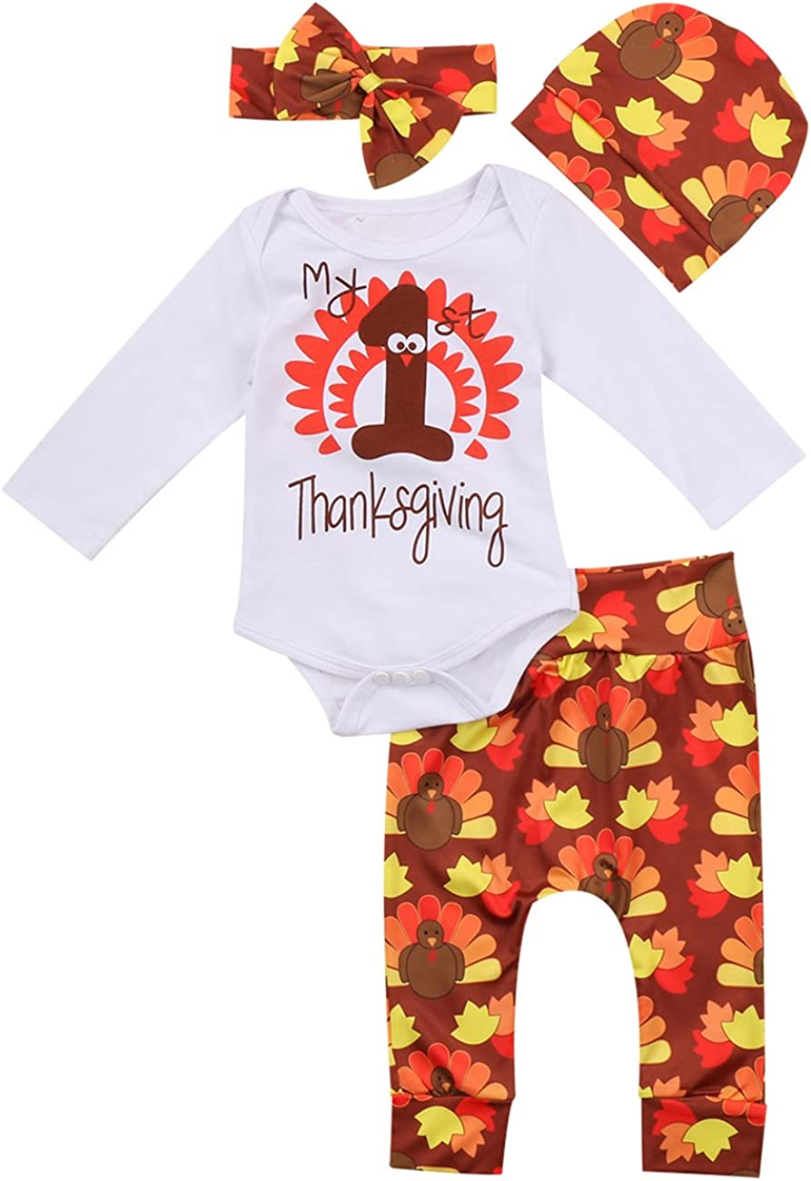 Miward Thanksgiving Outfit Newborn Baby Boy Girl Letter Print Ro