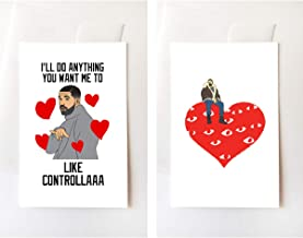 2 Pack - 6 God Controlla Views I Love You Greeting Cards (4.25x5.5 Inch)