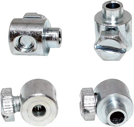 4 Stück Schraubnippel Winkel Für Seilzüge Bowdenzüge Kabel Etc 4stk 7x6 5mm Bohrung 2 5mm Baumarkt