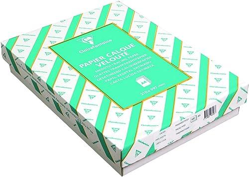 salida Clairefontaine 96507C - Papel de calco (500 hojas, 21 x x x 29,7 cm, 90 95 g), transparente  entrega de rayos