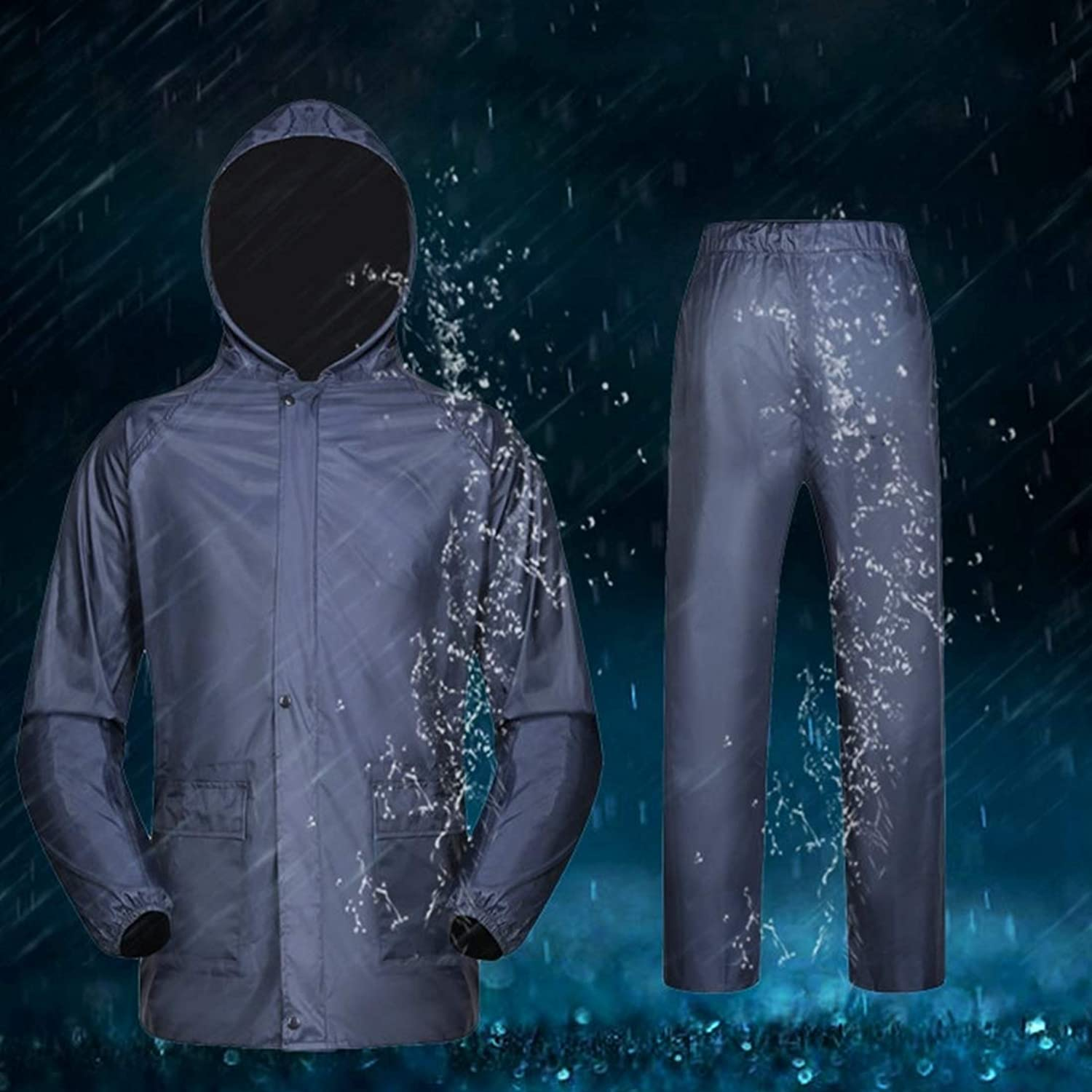 Comfortable PVC Double-Layer Design, Durable Split Raincoat Set, Cycling Bicycle and Motorcycle, Windproof and Rainproof Adult, Size  M Windproof and Waterproof (SKU   Wc4523a)