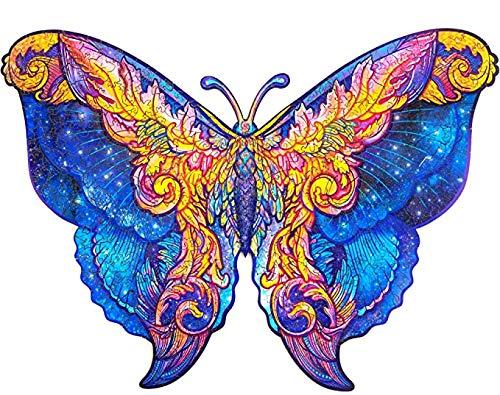 XLKDP Puzzle Animales Madera Adulto Rompecabezas De Madera Animales Adultos Regalos Hombre Mujer Navidad Halloween Juegos Puzzle (Butterfly, A3)
