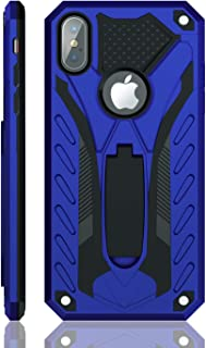 iPhone X Case | iPhone Xs Case | Military Grade | 12ft. Drop Tested Protective Case | Kickstand | Wireless Charging | Compatible with Apple iPhone X/iPhone Xs - Blue