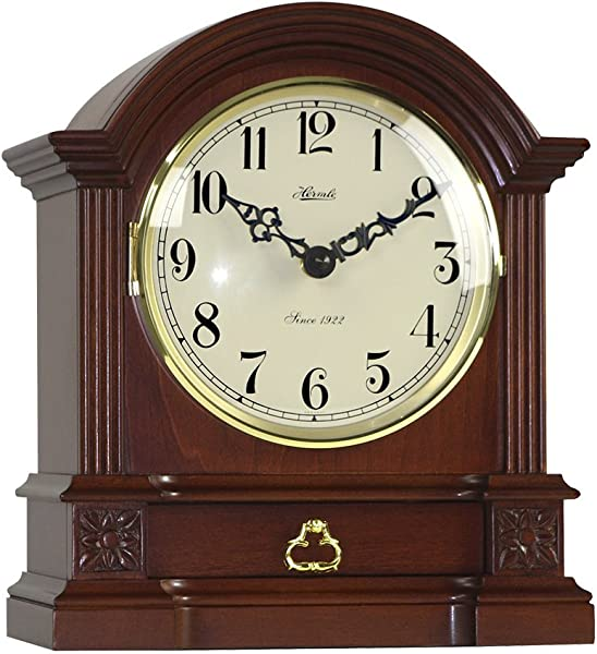 Qwirly Store Hollins Quartz Table Mantel Clock By Hermle 22915N9Q