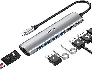 USB C Hub MacBook Pro Adapter - 8 in 1 Portable Aluminum USB C Dongle with USB C Charging, USB C to HDMI, 4 USB 3.0 Ports,...