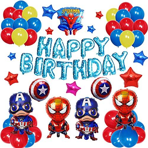 Nesloonp Super Hero Birthday Party Decorations Set Superhero Avengers Party Supplies Superhero Balloons for Boys Theme Party Favor