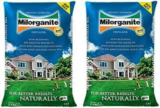 Milorganite 0636 Organic Nitrogen Fertilizer, 36-Pound (2 Bags)