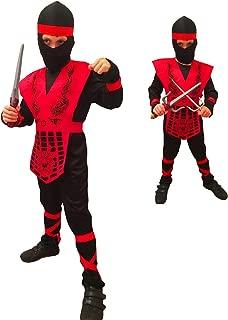 Rubber Johnnies Shogun Ninja, Red Dragon Fighter , Kids Costume (Size 4-6 Years)