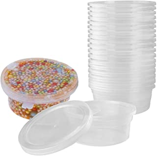 Slime Containers for Slime Supplies - Plastic Container for Slime Foam Ball Storage Containers with Lids for 45g Slimes (4.5oz) by YRYM HT