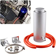 RYANSTAR Radiator Coolant Tank 800ml Universal Coolant Expansion Tank Cooling Catch Bottle Overflow Reservoir Aluminum Billet Silver