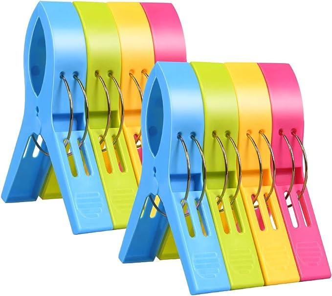 4304 opinioni per URAQT 8 Pezzi Mollette da Bucato, Mollette in Plastica Grandi Multicolore, Clip