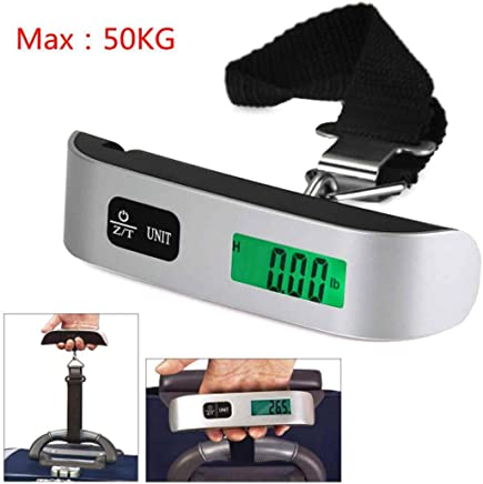 Haobase Mini Digital Luggage Scale Hand Held LCD Electronic Scale Electronic Hanging Scale Thermometer 50kg Capacity