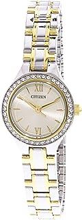Citizen Women's Beige Dial Stainless Steel Band Watch - EJ6094-52P
