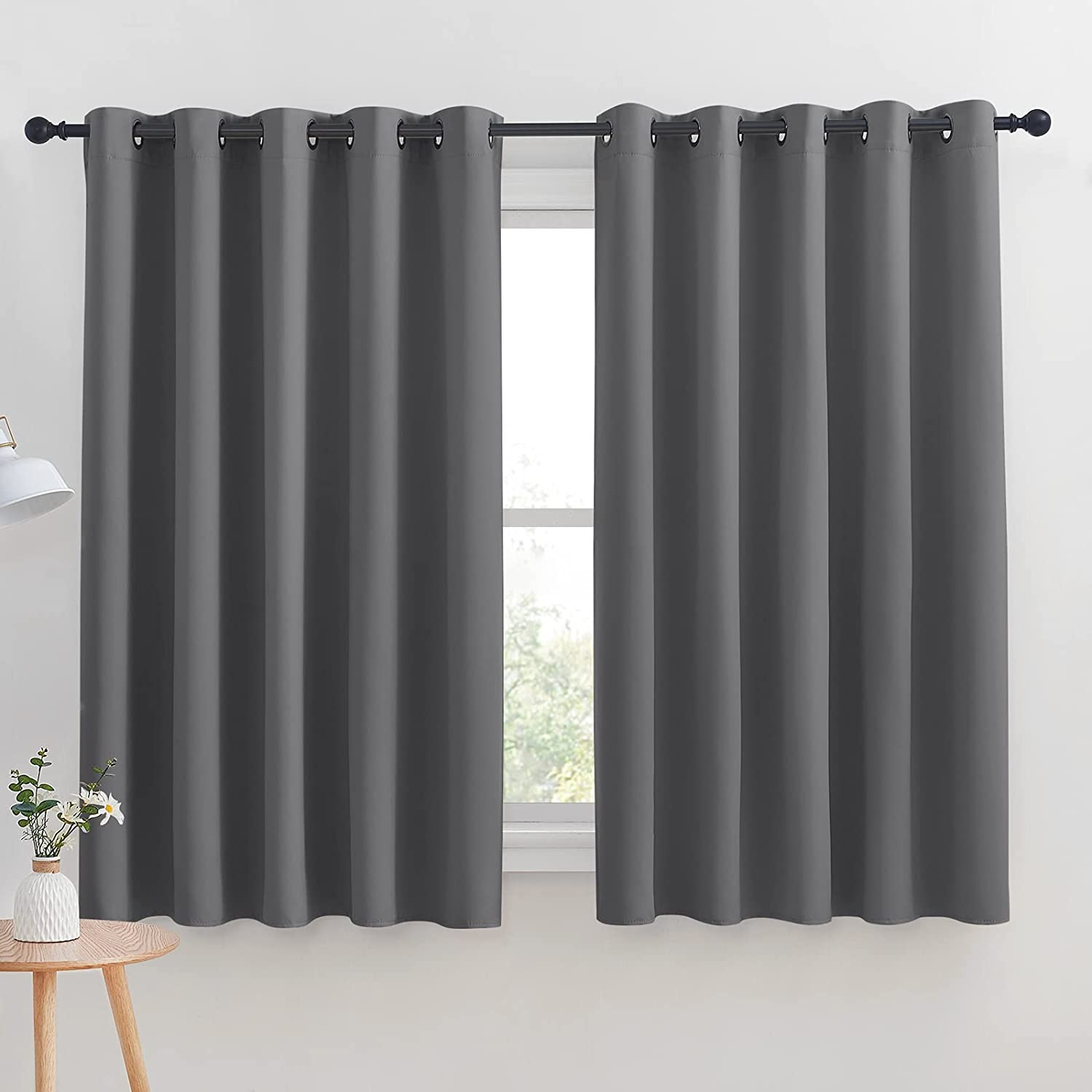 NICETOWN Grey Blackout Curtain Max 70% OFF All items free shipping Panels Bedroom for Insul Thermal