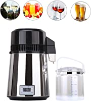 tinsay Countertop Stainless Steel Water Distiller,4L Water Purifier Pitcher Pure Water Distiller Distilled Water Machine Clean Water Making Machine for Home,Lad,Dental Use 110V