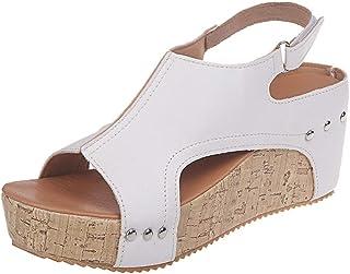 9fa82890 Sandalias Cuñas de Vestir Transpirable Mujer Sandalias con Punta Abierta Mujer  Sandalias Plataforma Casual Zapatos de