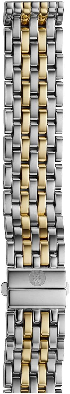 Michele - 16mm Deco 16 Two-Tone 7-Link Bracelet Silver/Gold