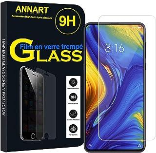 ANNART 1 x skärmskydd i härdat glas för Xiaomi Mi Mix 3 5G 6,39 tum M1810E5GG – genomskinlig
