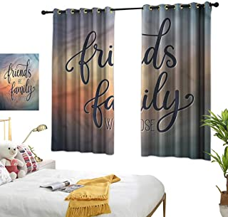 "Lightly Curtain tiebacks Family,Friends are Family BFF 72""x84"",Blackout Window Curtain Panels"