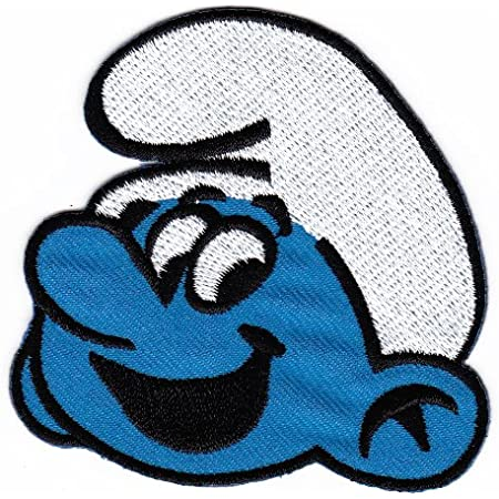 The Smurfs Smurfette Character with Flower Embroidered Iron on Patch