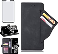 Wallet Phone Case for LG G8s ThinQ with Tempered Glass Screen Protector Cover and Cell Accessories Card Holder Slot Stand ...
