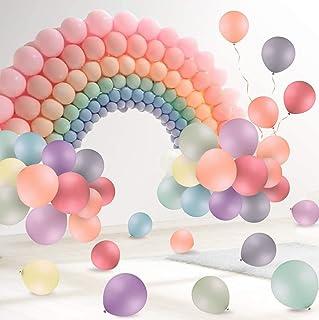 100 قطعة من بالونات اللاتكس بلون الباستيل ماكرون 10 انش لتزيين حفلات الزفاف والتخرج وأعياد الميلاد وحفلات استقبال المولود