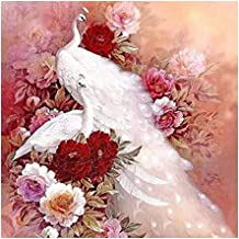Diamond Painting Kits for Adults, DIY 5D PeacockRound Full Drill Crystal Rhinestone Embroidery Pictures Art Cross Stitch P...