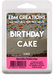 Birthday Cake - Scented All Natural Soy Wax Melts - 6 Cube Clamshell 3.2oz Highly Scented!