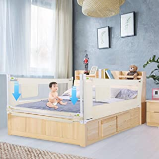Cocoarm Bed Rail Guard,Portable Foldable Toddlers Safety Bed Rail Children Bed Guard Side Rail Height Adjustable with Lockable Buckle (180cm/70.9inch)