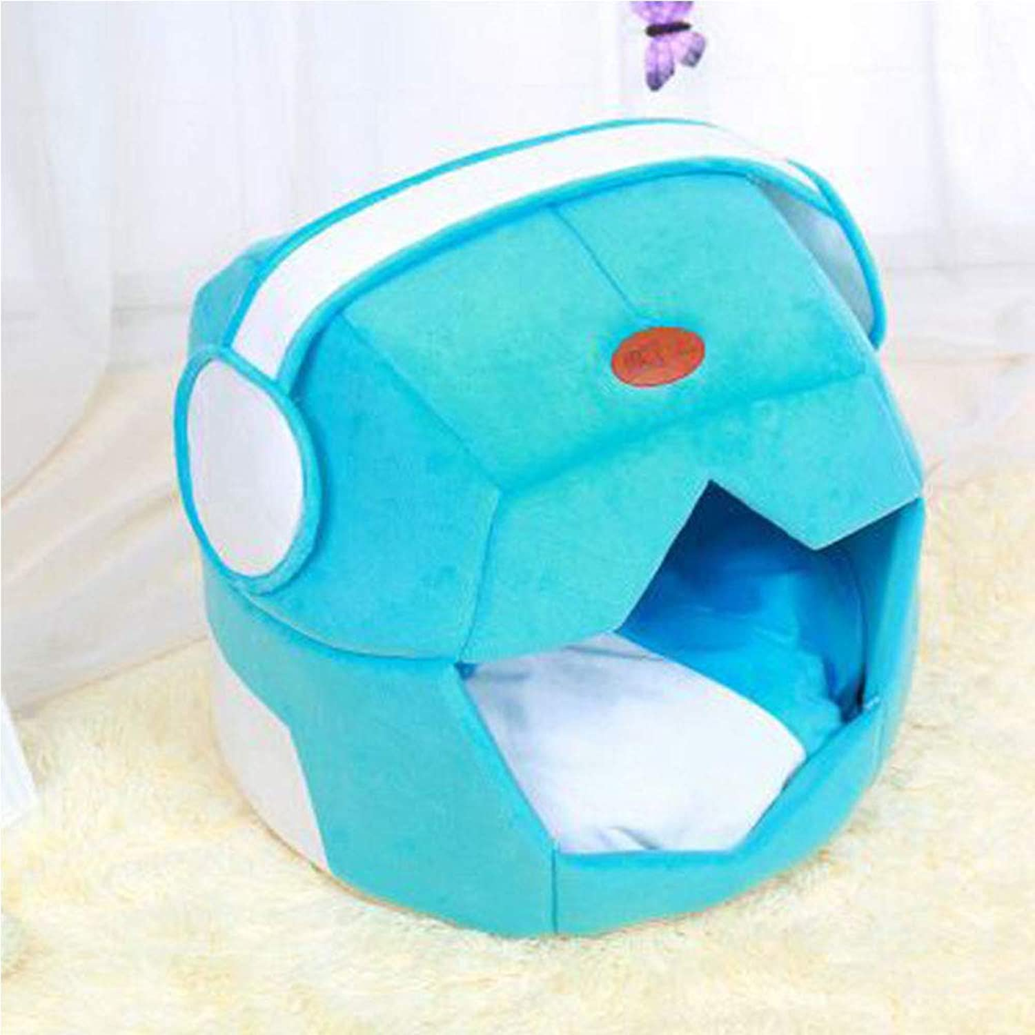 AXIANQI Space Cap Creative Dualuse Pet Nest Mat Teddy Kennel Cat Nest Breathable Pet Nest Dog Cage A (color   bluee, Size   49  43)