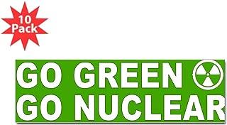 CafePress - Go Green Go Nuclear Bumper Sticker (10 Pk) - 10