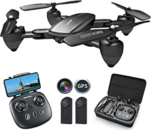 Zuhafa T5 drone with camera for adults,4K anti-shake HD camera,RC Quadcopter with GPS Return Home,5GHz FPV Transmission,40 Minutes Flight Time, Follow Me,Includes 2 Batteries