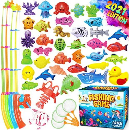 GoodyKing Magnetic Fishing Game Pool Toys for Kids Magnetic Fishing Toy for Toddlers Bath tub product image