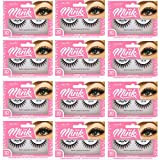 Amorus 3D Hand made Faux Mink Lashes #05 Black Nature fluffy light Reusable (12 pack)