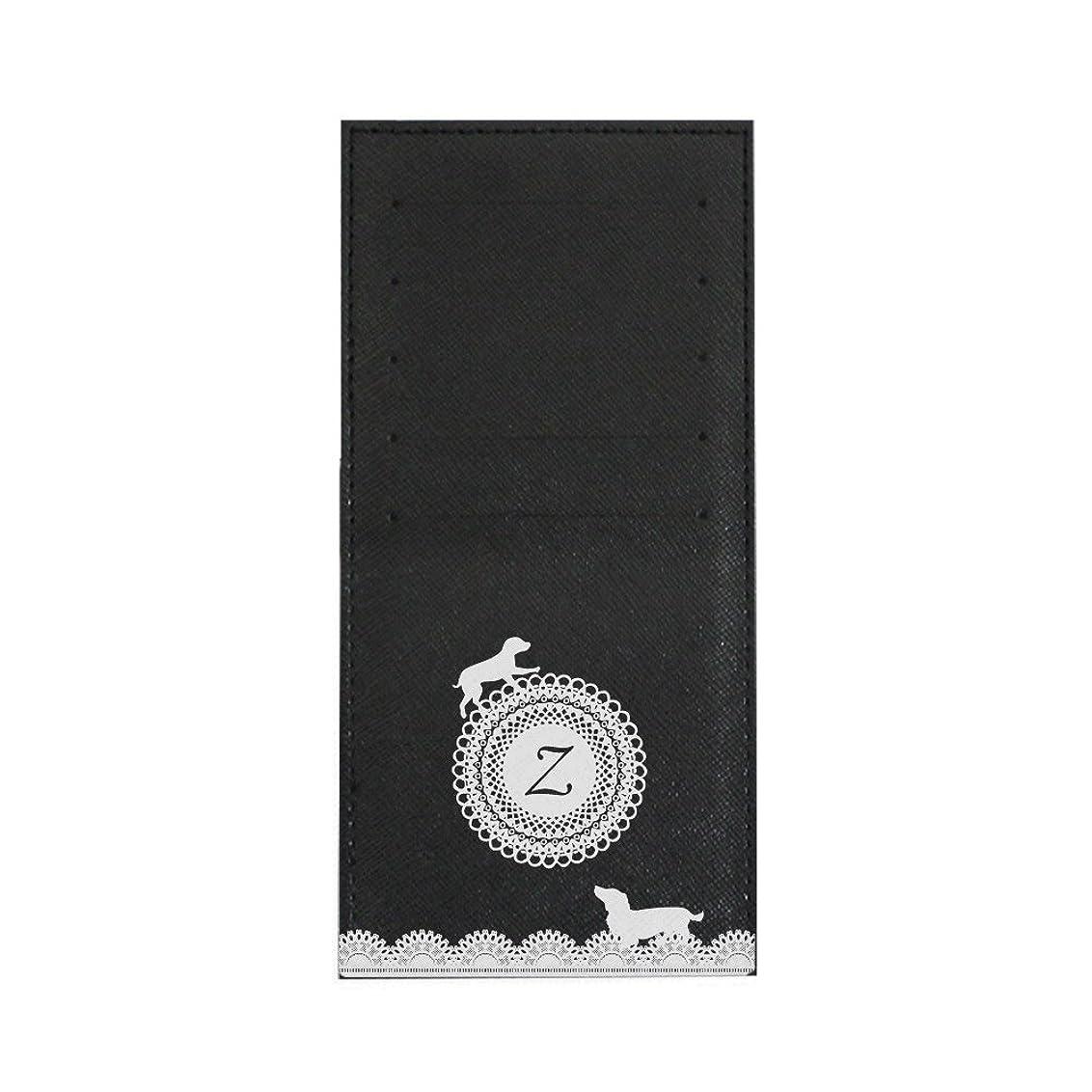 パフり耐えられるインナーカードケース 長財布用カードケース 10枚収納可能 カード入れ 収納 プレゼント ギフト 3030レースネーム ( Z ) ブラック mirai