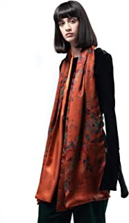 Gambiered Gauze Mulberry Silk Scarf Long Shawl Wraps for Ladies Evening Dresses Women Scarves Floral