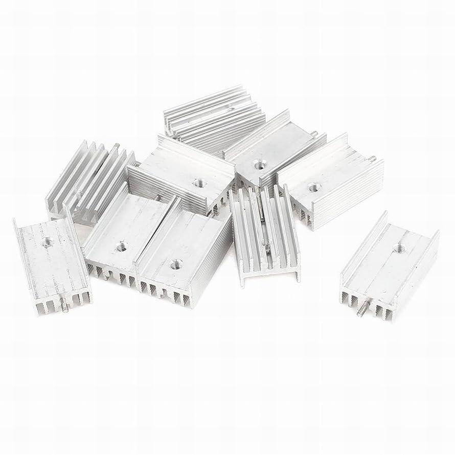 FemiaD 10Pcs 25x15x11mm Aluminum Heat Sink w Needle for TO-220 Transistors