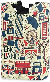 Londres Big Ben Bus Rouge Parapluie Panier À Linge Panier Seau Drapeau Angleterre Pliable Sac De Vêtements Sale Poubelle D...