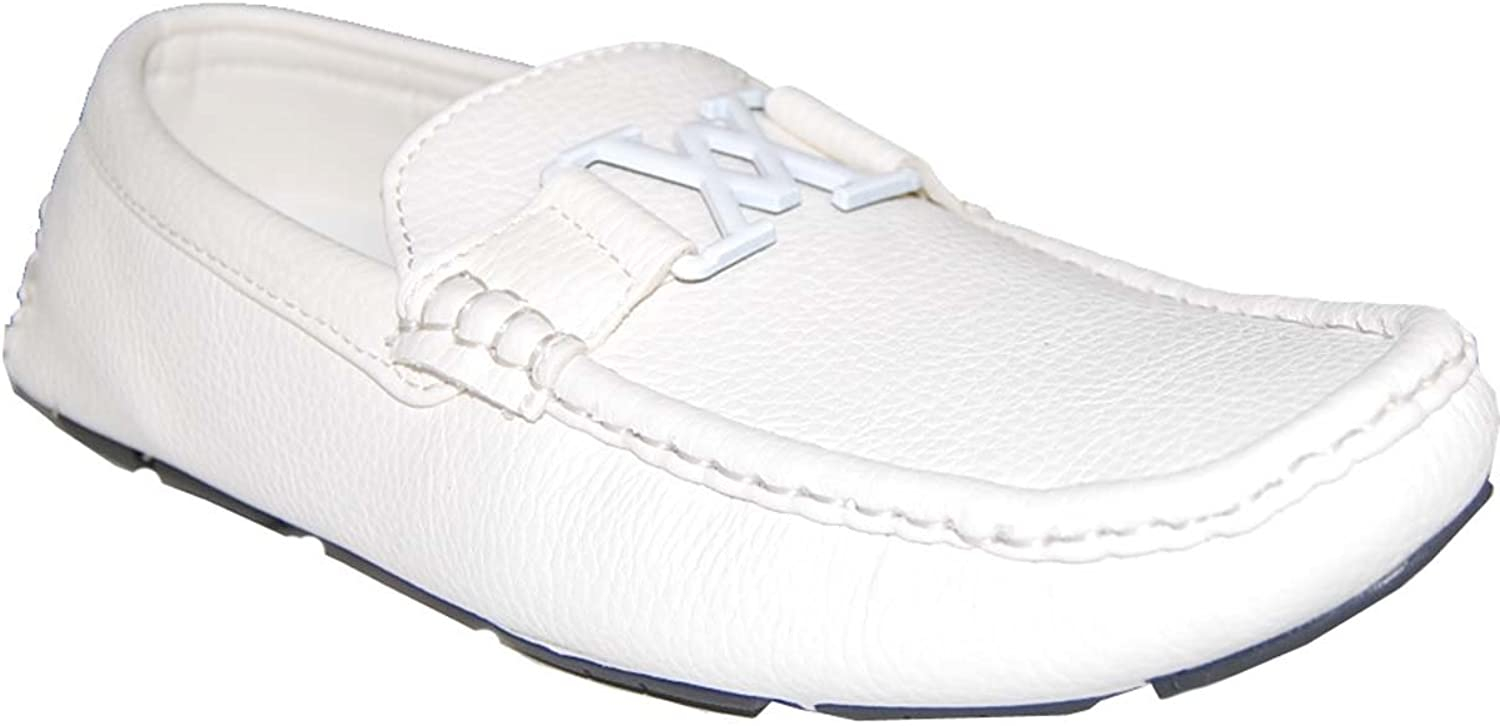 KRAZY SHOE ARTISTS Wow in White Men's Loafers,