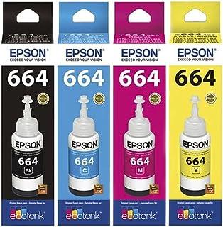 Kit Tinta Para Epson L355 L365 L375 L455 Original CMYK 4x70ml
