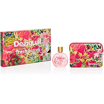 Desigual Perfume Coffret Fresh Bloom Eau de Toilette Spray con neceser 100 ml: Amazon.es: Belleza
