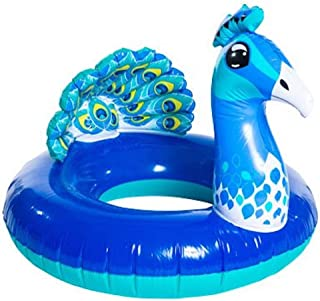 High Five Inflatable Peacock Bird Inner Tube Pool Float 35 inches