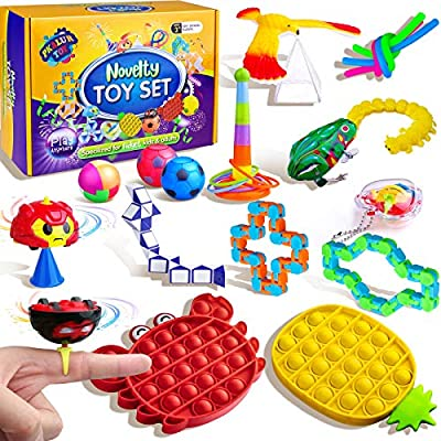 PKALUR Fidget Pack, Stress Relief Fidget Box, Novelty and Funny Anxiety Relief Toys for Kids and Adults, for Autistic Kids, ADHD, Great Gift and Classroom Rewards from PKALUR