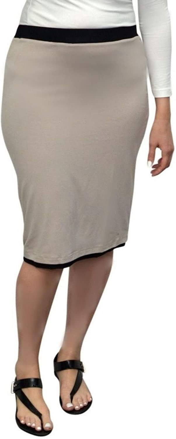 Kosher Casual Reversible Pencil Skirt -Double Layer Lightweight Fabric with Modest Knee Length
