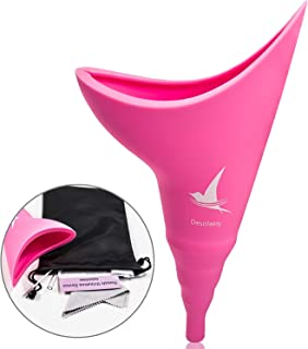 Female Urination Device - Lets Women to Pee Standing Up, Easily Stress-Free Women Pee Funnel - Reusable Portable Urinal Design for Ladies Outdoor Activities, with Discreet Carry Bag
