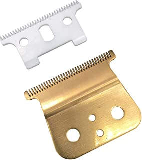 Gold T outliner blade for andis t outliner, andis gtx replacement blade (T blade + glod steel blade)