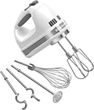 KitchenAid KHM926WH 9-Speed Digital Hand Mixer with Turbo Beater II Accessories and Pro Whisk - White 需配变压器