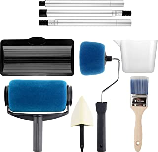 Paint Roller Kit,KUPOO Pro Edger DIY Brush Handle Room Wall Painting Runner Roller Tool Home Wall Decorative-9 Pcs (Upgrade Version)