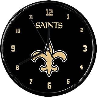Football Fanatics NFL New Orleans Saints Black Rim Basic Clock