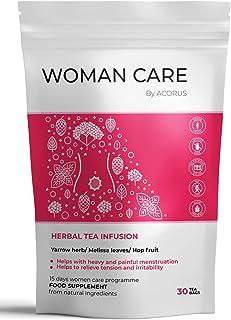 ACORUS Women Care Kräutertee  15 Tage Tee Programm  Tee für Frauen Empfohlen während der Menstruation mit Schafgarbenkraut
